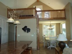 Lincoln City Beach House - Main Level - Living Room - View Of Loft